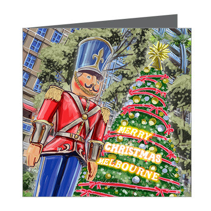 Card - Xmas Iconic Melbourne Nutcracker