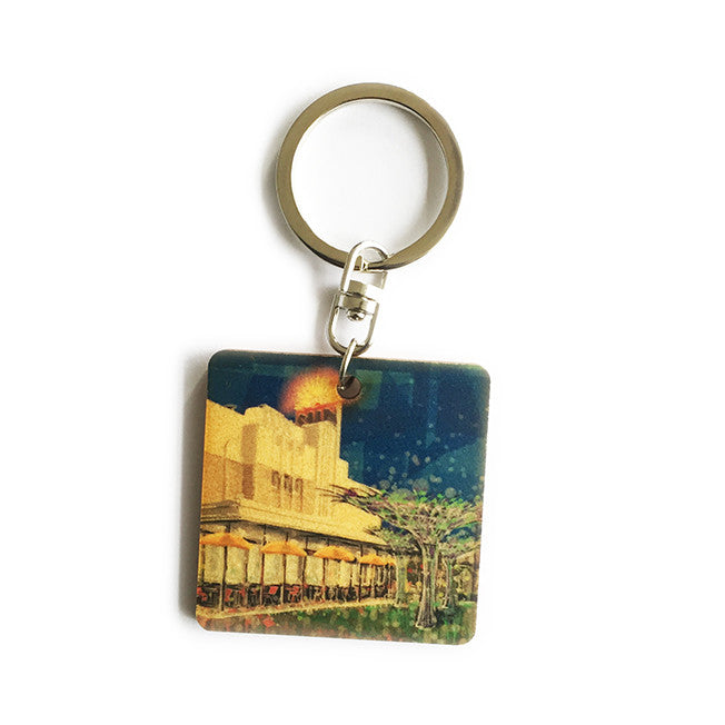 Keyring - Timber keyring with Sun Theatre print