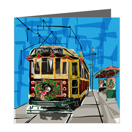 Card - Xmas Iconic Melbourne Tram