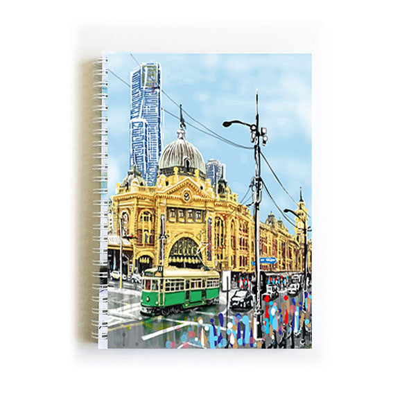 Note Book A5 - Iconic Melbourne Flinders Street Station