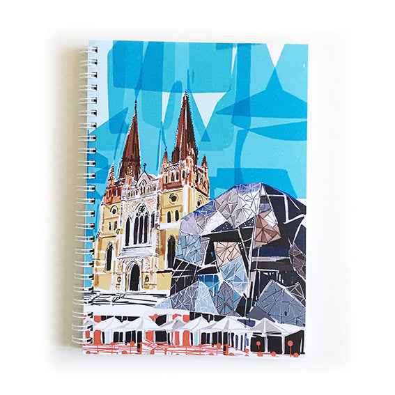 Note Book A5 - Iconic Melbourne St Pauls and Federation Square