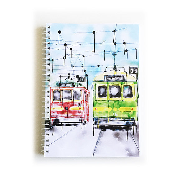 Note Book A5 - Iconic Melbourne Trams