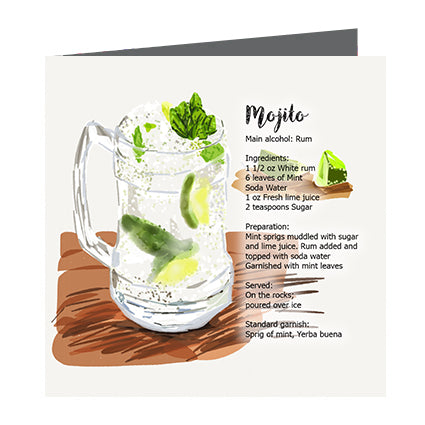 Card - Cocktail Mojito