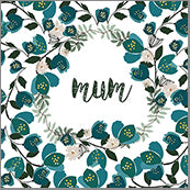 Small Cards (Pack of 10) - Mum Teal