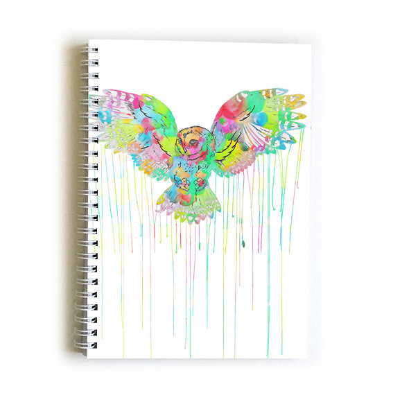 Note Book A5 - Paint Drip Owl
