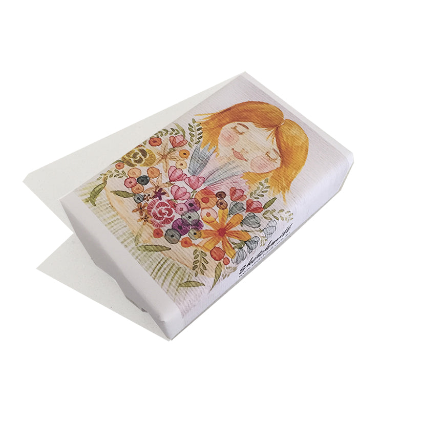 Soap Petite Pear Girl with Blooms
