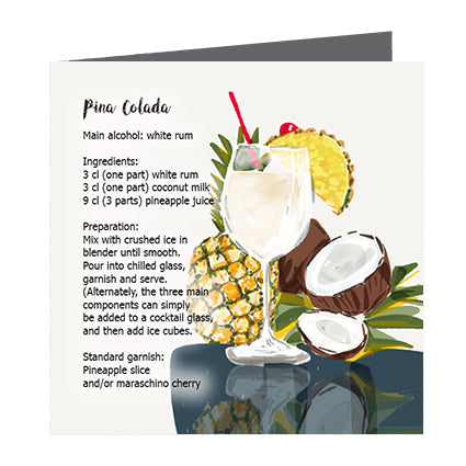 Card - Cocktail Pina Colada