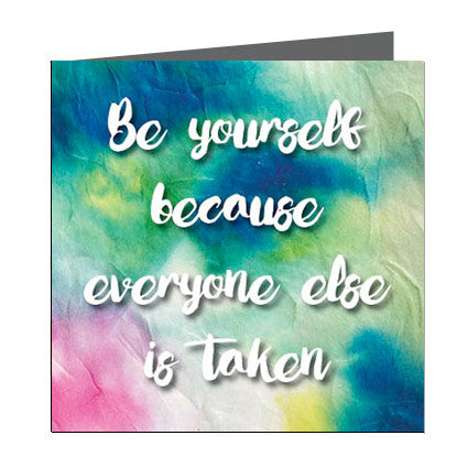 Card - Quote - Be yourself