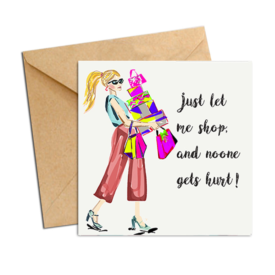 Card - Quote - Just let me shop