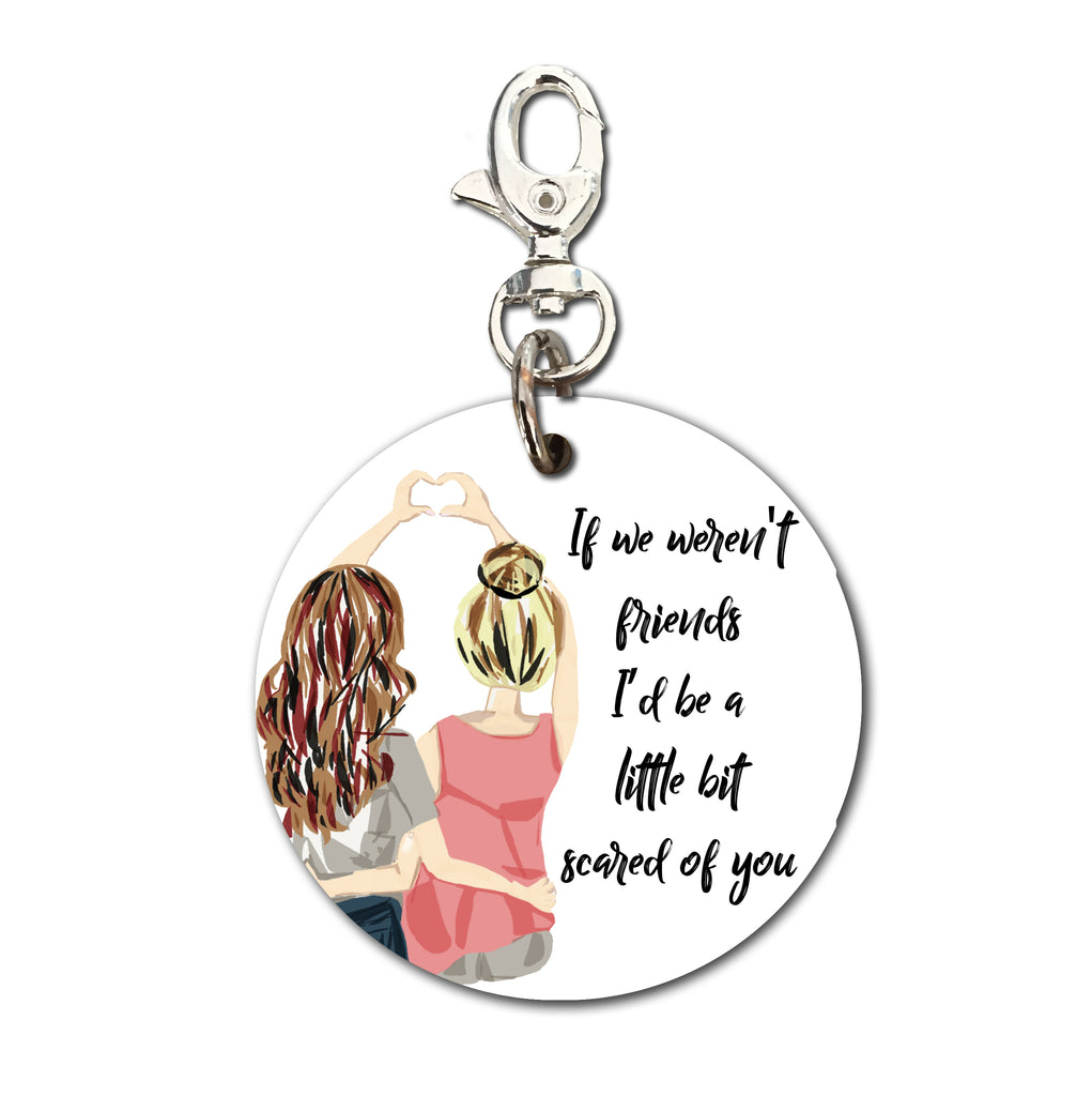 Keyring (Circular) - Quote Scared of you