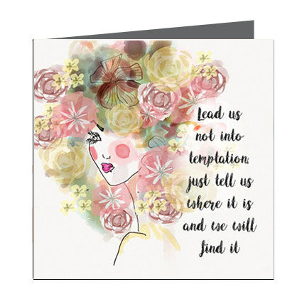 Card - Quote - Lead us not into temptation