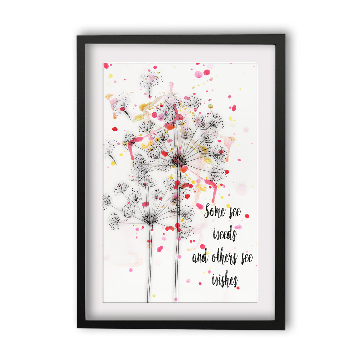 Print Quote Weeds or Wishes