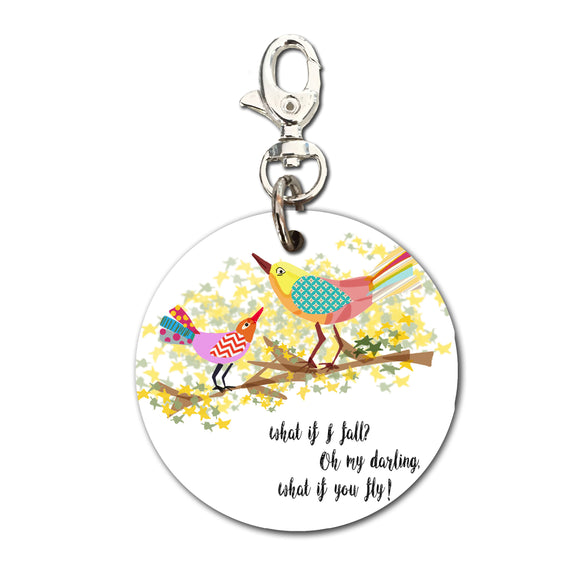 Keyring (Circular) - Quote What if you fly