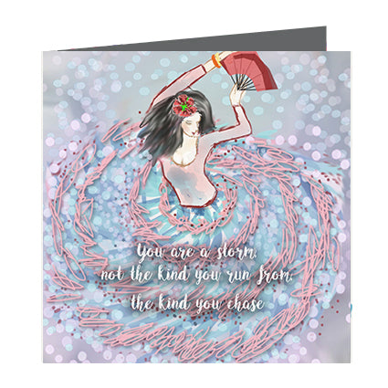 Card - Quote - You are a storm