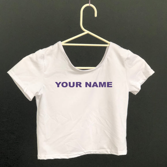Tshirt - Crop Top Rowing with personalised name