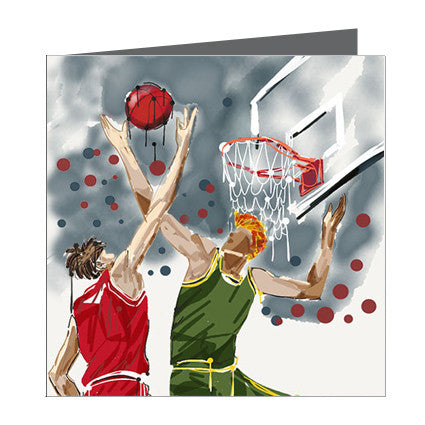 Card - Sports - Basket Ball Slam Dunk Boy