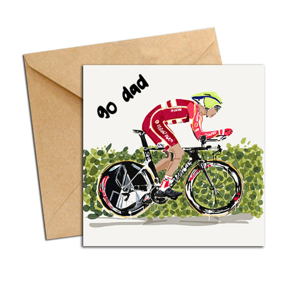 Card - Dad - Bike Red