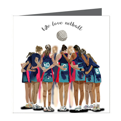Card - Sports - Netball Love Blue and Teal