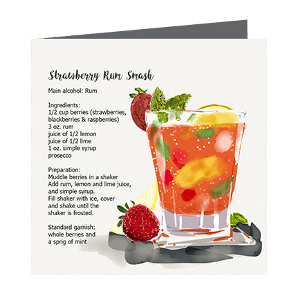 Card - Cocktail Strawberry Rum Smash