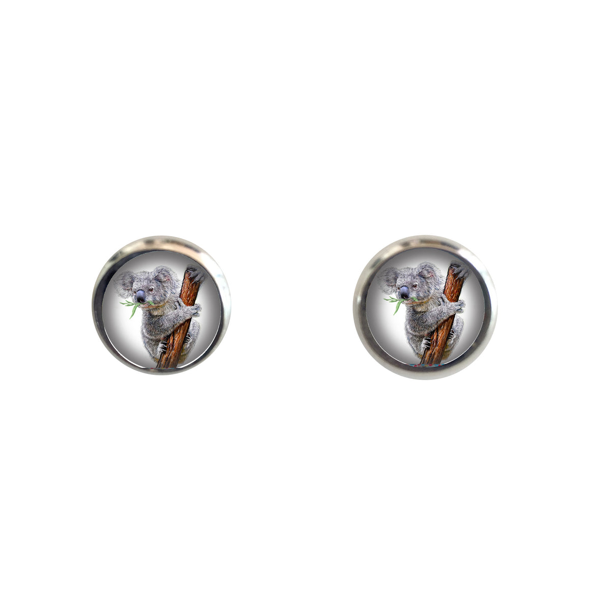 Earrings studs - koala