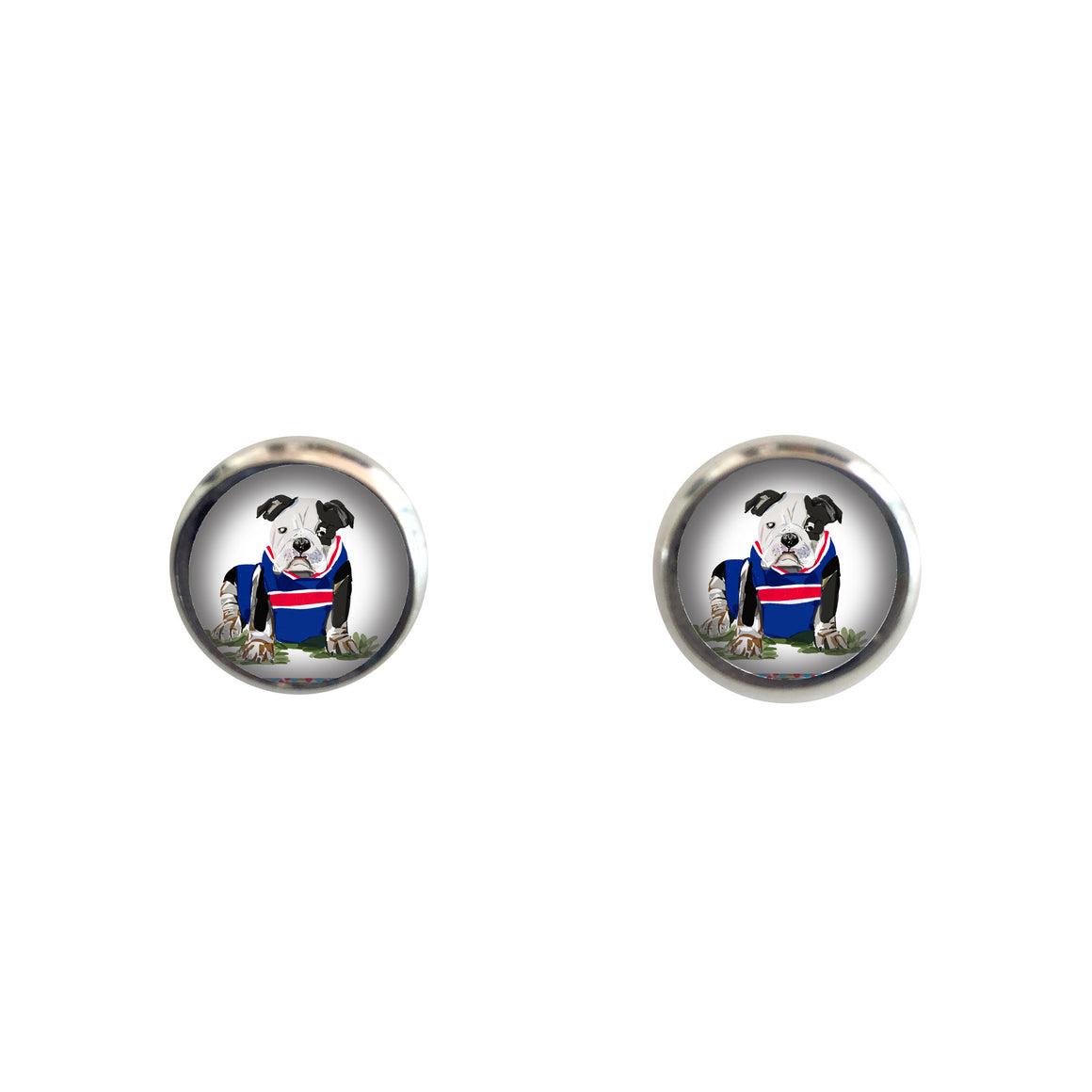 Earrings studs - bulldog