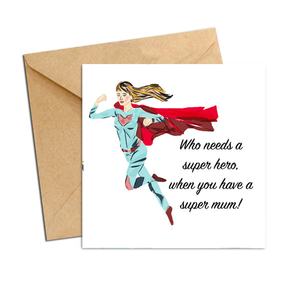 Card - Mum - Super hero