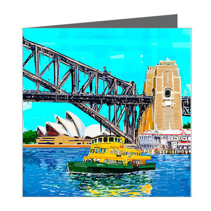 Card - Iconic Sydney - Harbour Bridge and Ferry