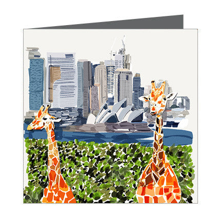 Card - Iconic Sydney - Taronga Zoo and Opera House