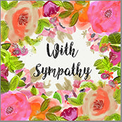 Small Cards (Pack of 10) - Sympathy Blooms Pint and Orange