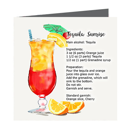 Card - Cocktail Tequila Sunrise