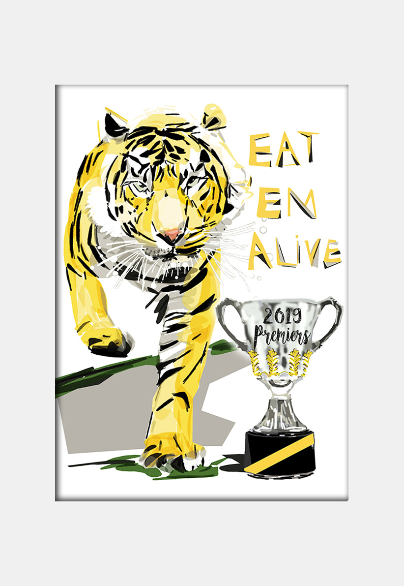 Print Football AFL - Richmond Tiger Premiers Eat em 2019