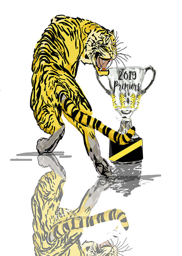 Print Football AFL - Richmond Tiger Premiers 2019