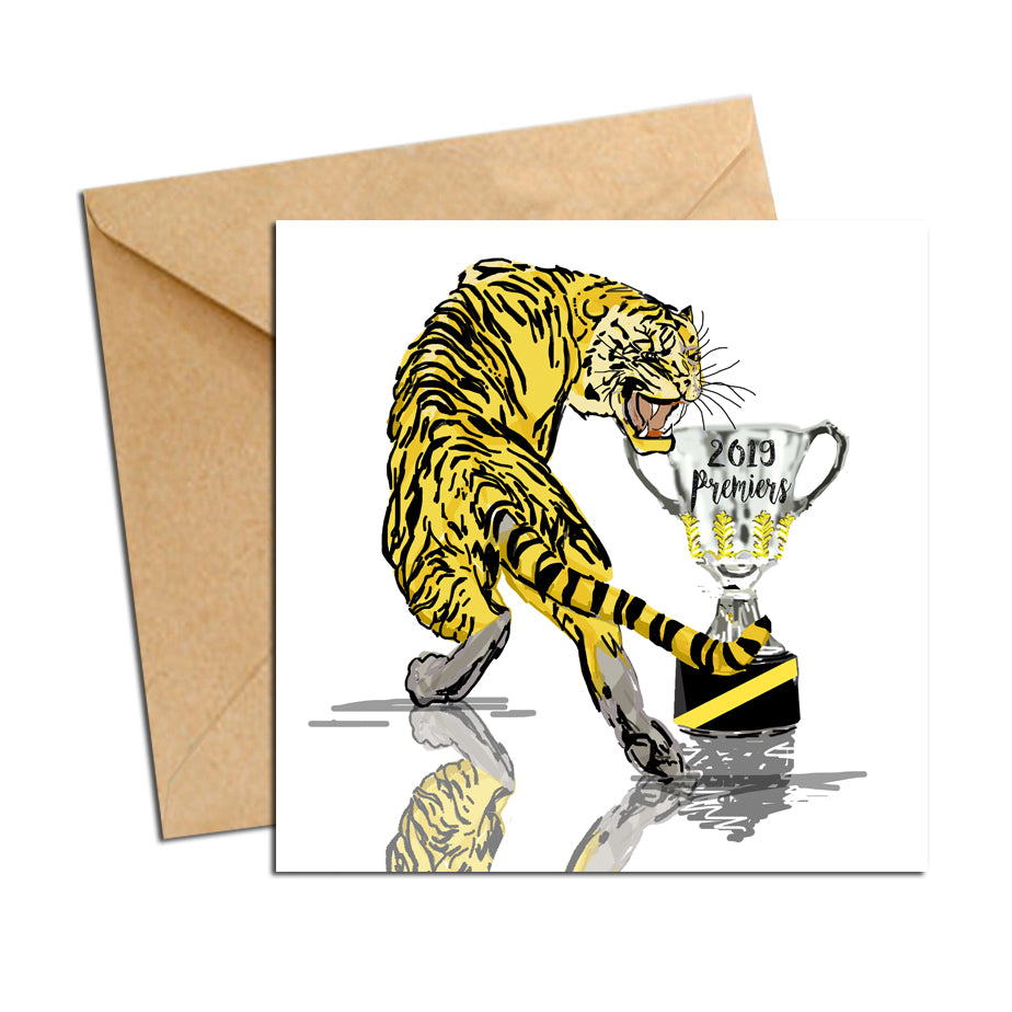 Card - AFL Tigers Premiers 2019