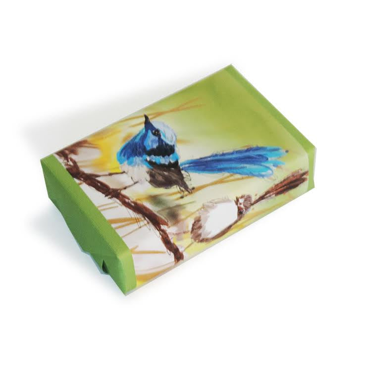 Soap (Australiana Bird) Blue Wren Wrap