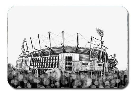 Postcard - Melbourne MCG Black and White