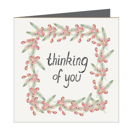 Card - Thinking of You - Ring of Gum nuts