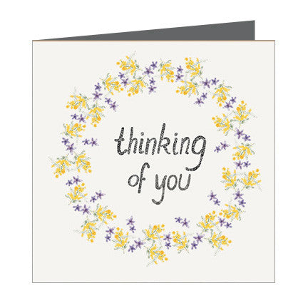Card - Thinking of You - Ring of Wattles