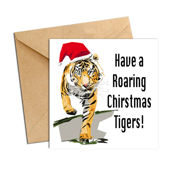 Card - Xmas Footy Tigers