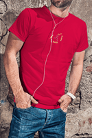 chucklr mens casual t-shirt - flash harry - red