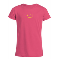 chucklr girls casual t-shirt - lightning quick - pink
