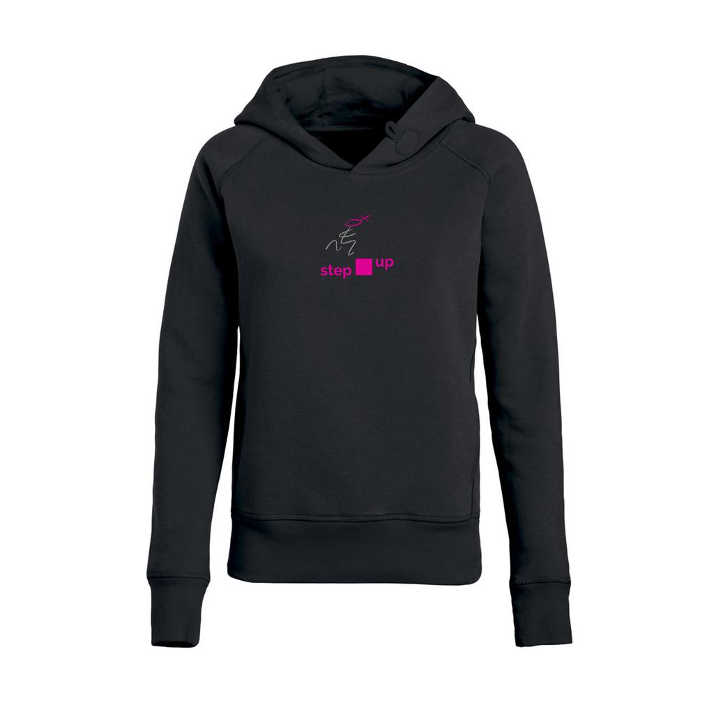 chucklr womens premium hoodie - step up - black