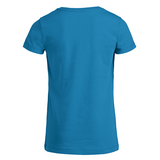 chucklr girls casual t-shirt - lightning quick - blue