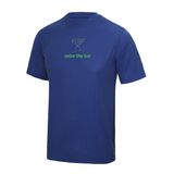 chucklr mens active t-shirt - raise the bar - blue