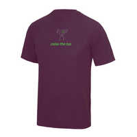 chucklr mens active t-shirt - raise the bar - plum