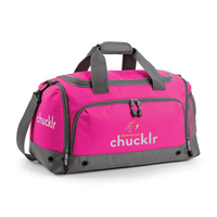 chucklr womens sports holdall full - lightning quick - pink