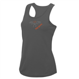 chucklr womens running vest - big guns - charcoal
