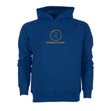 chucklr mens premium hoodie - running in circles - blue