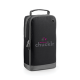 chucklr womens shoe / accessory bag - lightning quick - black