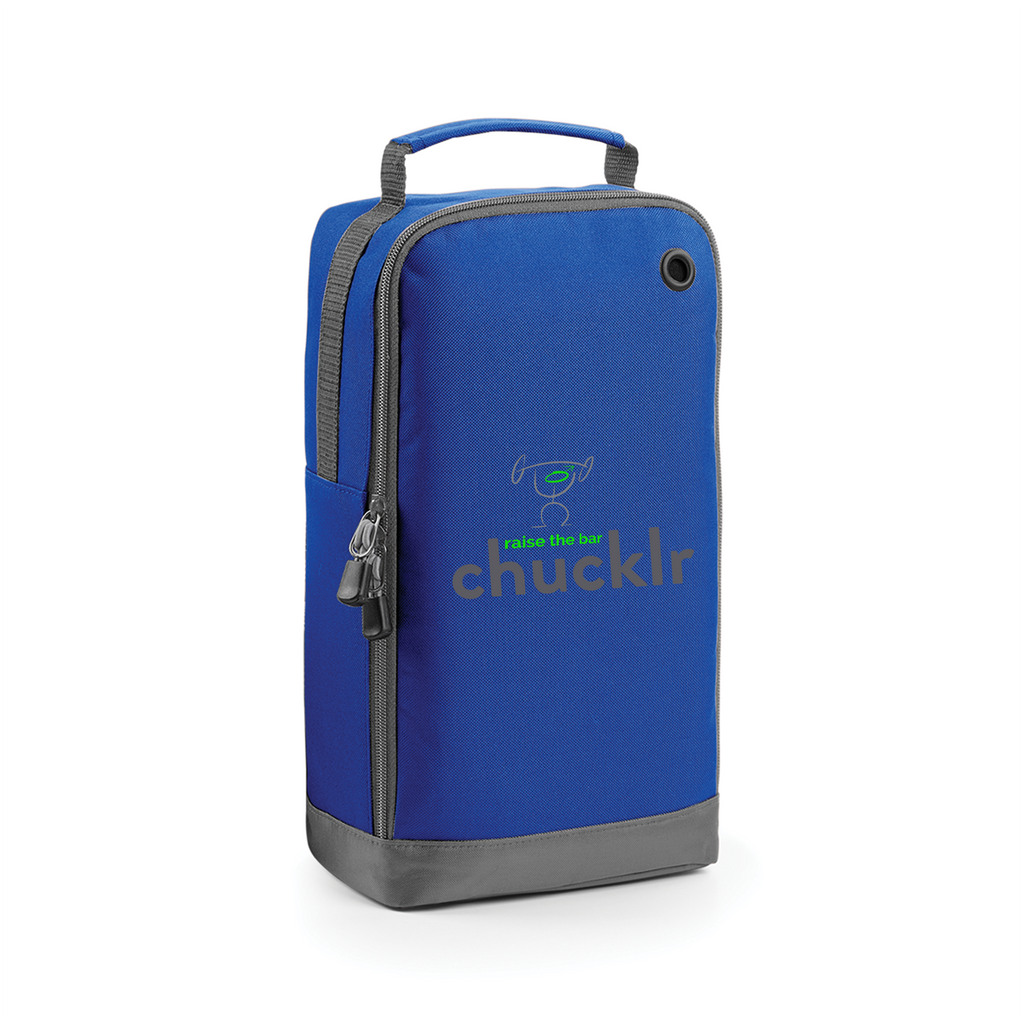 chucklr mens shoe / accessory bag - raise the bar - blue