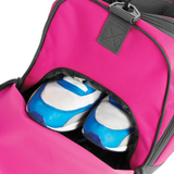 chucklr womens sports holdall shoe pocket - lightning quick - pink